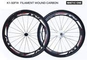 "SALE : Kinetic-One ""K1-50FW ULTIMATE"" Carbon Wheelset"